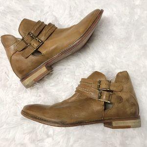Free people Braeburn brown leather booties 6